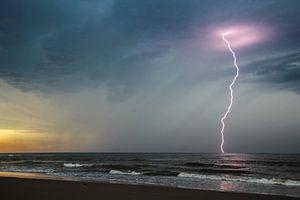 Onweer in de Noordzee van