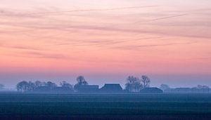 Prachtige winterochtend in Groningen. van