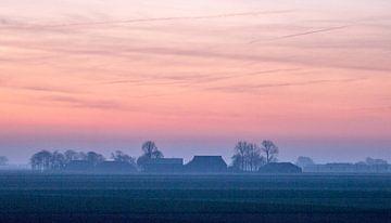 Beau matin d'hiver à Groningen. sur Ron Poot