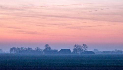 Prachtige winterochtend in Groningen. van Ron Poot