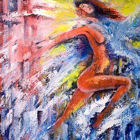 vrouwelijk naakt en water van David Berkhoff