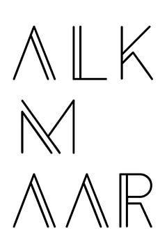 Stadsmotief Alkmaar Typo van Kim Karol / Ohkimiko