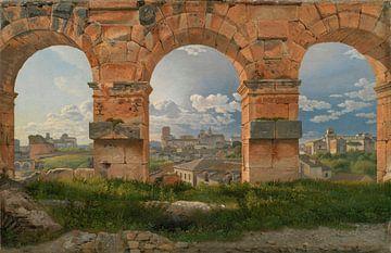 Ein Blick durch drei Bögen auf das dritte Stockwerk des Kolosseums, Christoffer Wilhelm Eckersberg