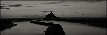 Panorama Le Mont Saint Michel van Henri van Avezaath