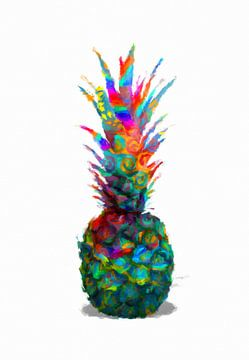 Ananas abstrakt van Marion Tenbergen
