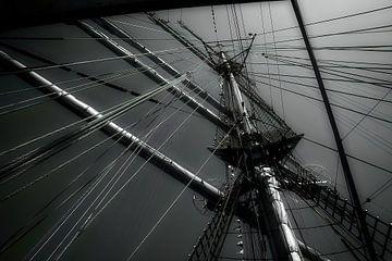 Linien in schwarz und weiß von Evert Jan Looise