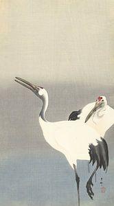 Twee kraanvogels van Ohara Koson