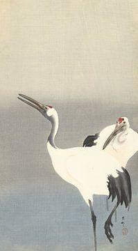 Zwei Kraniche von Ohara Koson - 1900 - 1930