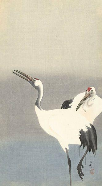Twee kraanvogels van Ohara Koson van Gave Meesters