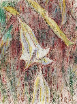 Datura Japonica (Engelstrompeten), Christian Rohlfs, Wohl 1936 von Atelier Liesjes