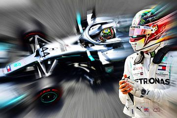 Lewis Hamilton - F1 wereldkampioen van Jean-Louis Glineur alias DeVerviers