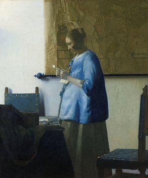 Brieflesendes Mädchen am offenen Fenster - Johannes Vermeer