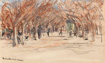 MAX LIEBERMANN, Promenade in Cannes, Ca. 1907 van Atelier Liesjes