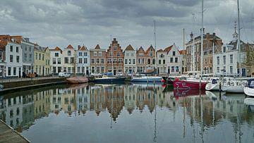 Träumerisches Bild des Hafens von Goes von Gert van Santen