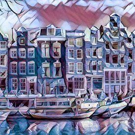 Amsterdam, grachtengordel in de winter van Rietje Bulthuis
