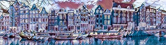 Amsterdam, grachtengordel in de winter
