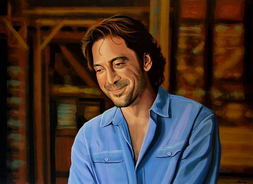 Javier Bardem Schilderij van Paul Meijering