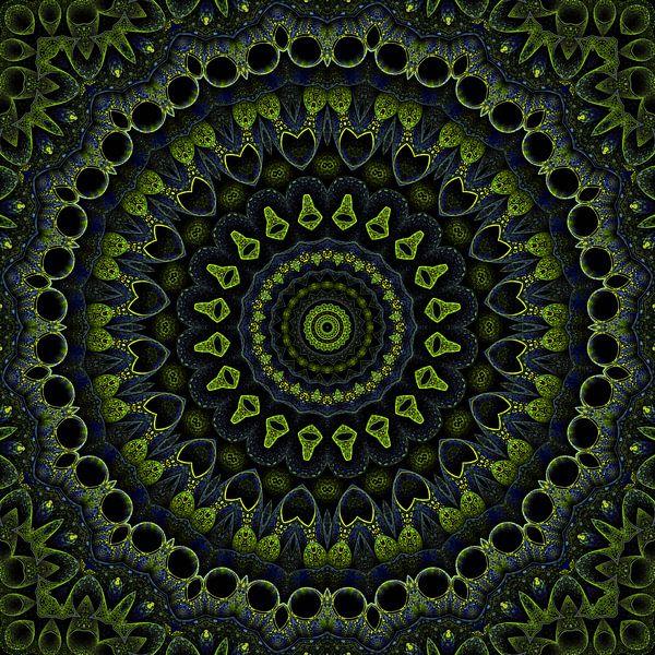 Mandala groen van Marion Tenbergen