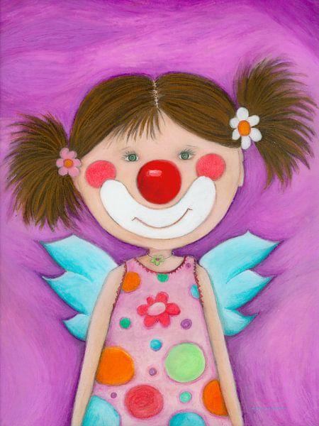 CLOWN MEISJE - Kunst voor Kinderen van Atelier BuntePunkt