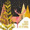 GRAPHIC ART GOLD Hello winter let it snow van Melanie Viola thumbnail