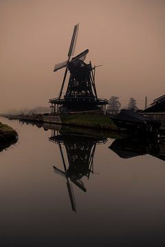 Verbrannte Mühle von Oscar van Crimpen