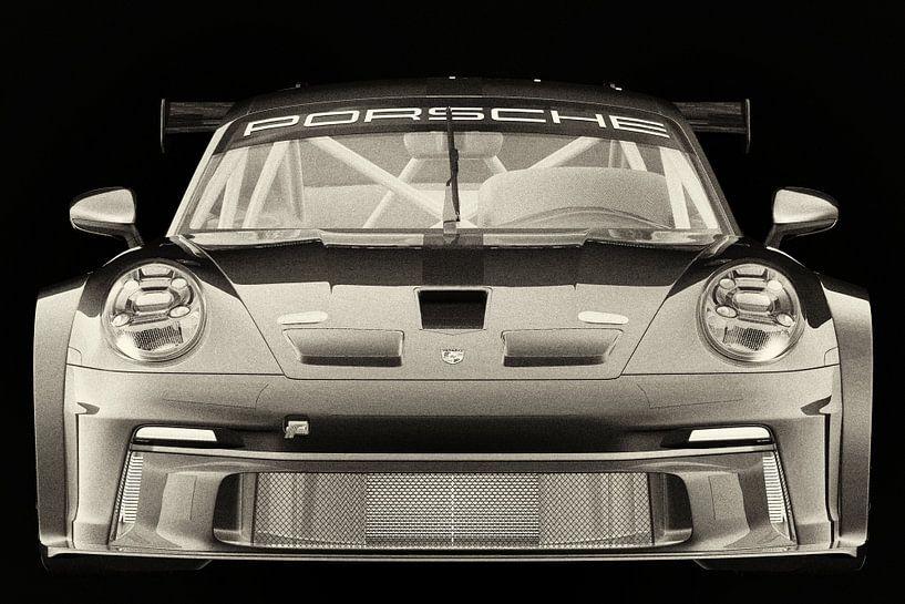 Porsche 911 GT-3 RS - Cup 2021 vooraan van Jan Keteleer