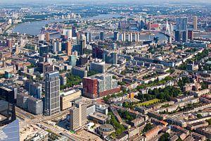 Luchtfoto centrum Rotterdam