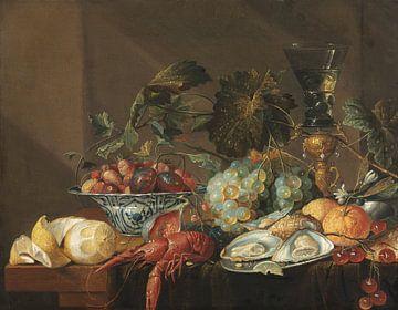 Stilleben mit Flusskrebsen, Austern und Früchten, Cornelis de Heem