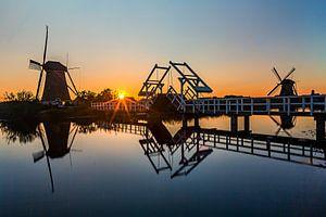 Verlichte molens Kinderdijk - 4 van