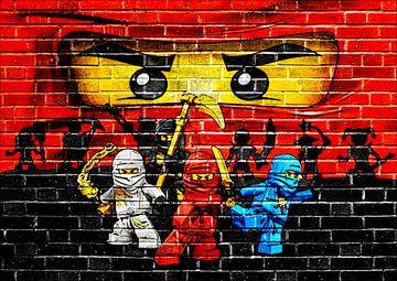 LEGO ninjago Wandgraffiti 3 von Bert Hooijer