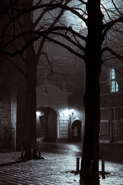 Binnenhof bij nacht van Raoul Suermondt