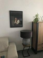 Klantfoto: Meisje in 't venster - Rembrandt van Rijn, als ingelijste fotoprint