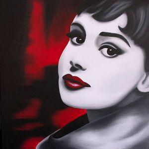Audrey Hepburn popart van