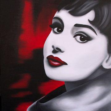 Audrey Hepburn popart von anja verbruggen
