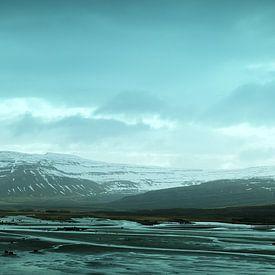 Panorama van een prachtig stuk kustlijn in IJsland van Arc One