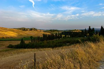 Gouden uur in Toscane - Italie van Jeroen(JAC) de Jong
