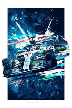 Lewis Hamilton van Nylz Race Art