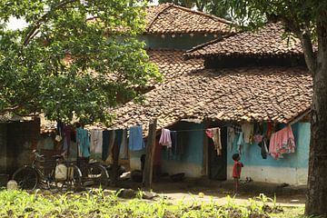 Traditioneel huis in Madhya Pradesh van Cora Unk