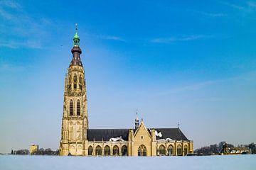 Breda - Grote Kerk in de Sneeuw von I Love Breda