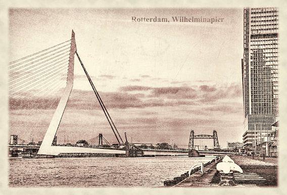 Oude ansichten: Wilhelminapier en Erasmusbrug