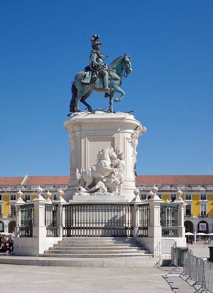 Het ruiterstandbeeld van José I, ontworpen door Joaquim Machado de Castro van Berthold Werner