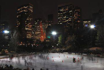 Schaatsen in central park New York van Jeroen Harmsen