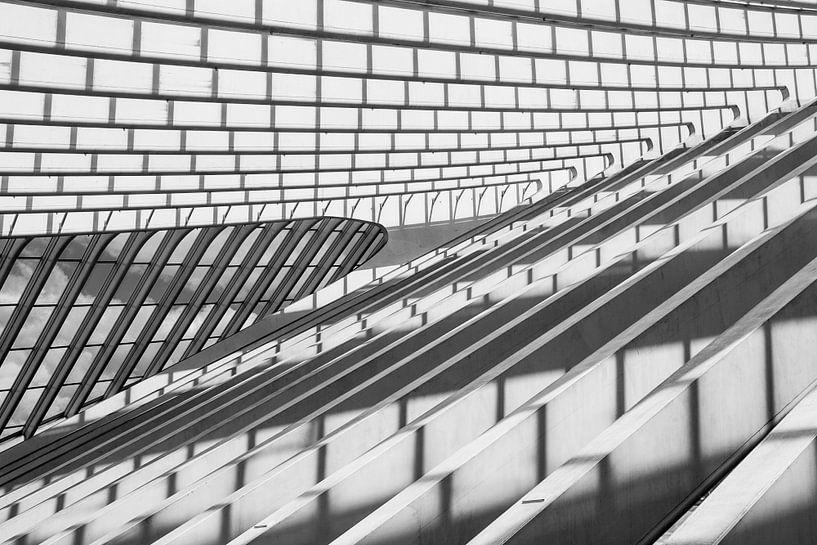 shadows and lines (B&W version) van Koen Ceusters