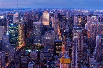 Midtown Manhattan zur blauen Stunde sur Kurt Krause