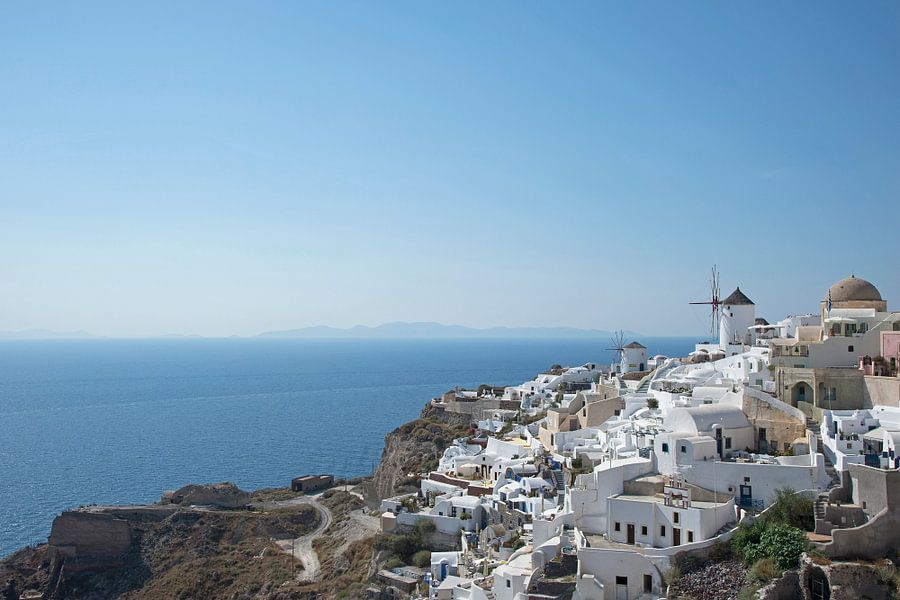 Witte huisjes op Oia Santorini