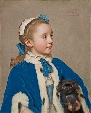 Maria Frederike van Reede-Athlone à l'âge de sept ans, Jean-Étienne Liotard - vers 1755 sur