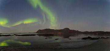 Noorderlicht Panorama Lofoten van Kai Müller