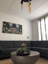 Photo de nos clients: Belle image botanique de la jungle avec des fougères et des fleurs sur Studio POPPY, sur image acoustique