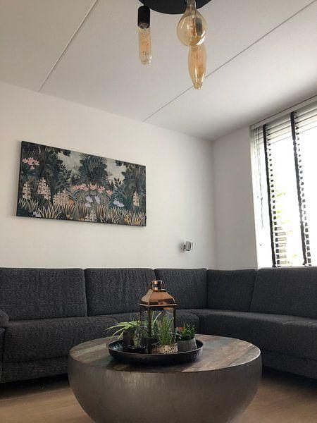 Kundenfoto: Wunderschönes botanisches Bild des Dschungels mit Farnen und Blumen von Studio POPPY, auf medium_13