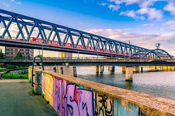 Hamburg, Hafen, Elbe, Brücke von Ingo Boelter